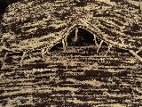Chodnik bawełniany, ręcznie tkany, brązowo-ecru 65x150