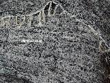 Hand -woven cotton carpet, black-light grey, 80x140