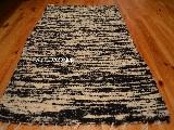 Chodnik bawełniany\pled ręcznie tkany czarno-ecru 65x120 cm