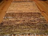 Chodnik bawełniany\pled ręcznie tkany brązowo-pomarańczowy 65x120 cm