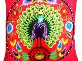 Poduszka dekoracyjna folk paw 50x50 (w-10)