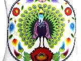 Poduszka dekoracyjna folk paw 50x50 (w-11)