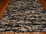 Chodnik bawełniany\pled ręcznie tkany czarno-ecru 65x150