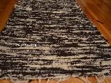 Chodnik bawełniany\pled ręcznie tkany brąz - ecru  65x150