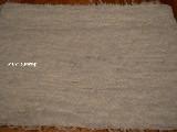 Chodnik bawełniany (wycieraczka) ręcznie tkany biały (1)  65x50