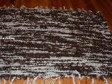 Chodnik bawełniany (wycieraczka) ręcznie tkany brązowo-ecru 65x50