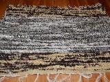 Hand -woven cotton carpet grey-brown-ecru 65x50