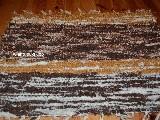 Chodnik bawe�niany r�cznie tkany ciemy,jasny br�z-ecru 65x50