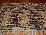 Chodnik bawe�niany r�cznie tkany br�zowy jasny, ciemny 65x50