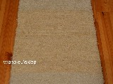 Hand -woven cotton carpet, cream 50x100