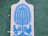 Cutout Kurpian - Star Kurpian - colour rose -  glued on a wooden kitchen board 37x15 (ww-18)
