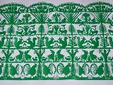 Wycinanka ludowa, kurpiowska - Scenka rodzajowa - lasy 62x93 cm (czk-2)