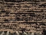 Hand -woven cotton carpet, black-beige 80x100