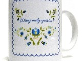 Cup with the folk motif - embroidery pattern Hello nice the guest