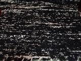 Chodnik bawe�niany, r�cznie tkany, czarno-ecru 65x200