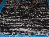 Chodnik bawe�niany r�cznie tkany czarno-szaro-bia�y 65x50