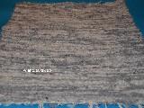 Chodnik bawełniany (wycieraczka) ręcznie tkany jasno szary-ecru 65x50
