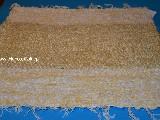 Hand -woven cotton carpet, gold yellow, the edges - yellow-ecru 65x50