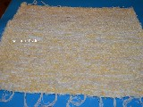 Chodnik bawełniany (wycieraczka)  ręcznie tkany  żółto-ecru 65x50