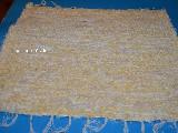 Hand -woven cotton carpet, yellow-ecru 65x50