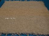 Hand -woven cotton carpet, ecru, in the midle - more dark 65x50