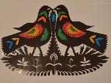 Wycinanka ludowa, kurpiowska - ptaki (czk-9)