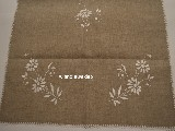 The table runner linen embroidered, grey, 100x47 cm