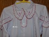 Koszula damska ręcznie haftowana (kś-4) (na zamówienie)
