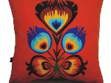 Poduszka ozdobna folk kwiat ludowy 50x50