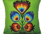Poduszka ozdobna folk kwiat ludowy4 40x40 cm