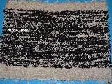 Chodnik bawełniany (wycieraczka) ręcznie tkany czarno-szary 65x50