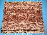 Chodnik bawe�niany (wycieraczka) r�cznie tkany br�zowo-ecru 65x50