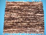 Chodnik bawe�niany (wycieraczka) r�cznie tkany jasny-ciemny bra�-ecru 65x50