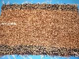 Chodnik bawełniany (wycieraczka) ręcznie tkany brązowo-ecru 66x41