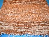 CChodnik bawełniany (wycieraczka) ręcznie tkany jasny brąz -ecru 65x50