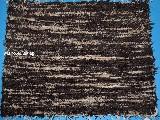 Hand -woven cotton carpet, dark brown-light brown, 65x50