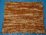 Hand -woven cotton carpet, light brown-ecru 65x50