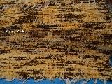 Chodnik bawe�niany\pled r�cznie tkany br�zowo-��to-ecru 65x120 cm
