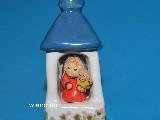 Rzeźba ceramiczna - kapliczka przydrożna (mini, wys. 8 cm), Maryja z Dzieciątkiem (1)