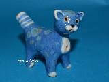 Rzeźba ceramiczna - Kotek, gwizdek ludowy wys. 7 cm (cz)
