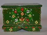 Regional dowry box in hand-painted Wreath of Cracow (19x11x13)