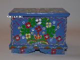 Regional dowry box in hand-painted Wreath of Cracow (15x10x11,5)