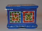 Regional dowry box in hand-painted Zawiślecka (12,5x9x10)