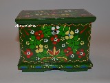 Regional dowry box in hand-painted Wreath of Cracow (12,5x9x10)