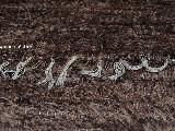 Chodnik bawełniany, ręcznie tkany, jasny-ciemny brąz 65x200