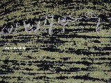 Chodnik bawełniany\pled, ręcznie tkany czarno-seledynowy 80x140