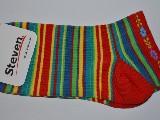 Stopki damskie ze wzorem ludowym, łowickim, czerwony, rozmiar 35-37