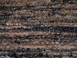 Chodnik bawe�niany r�cznie tkany czarno-jasny br�z 65x200 cm