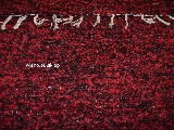 Chodnik bawełniany ręcznie tkany bordowo-czarny 65x120 cm