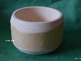 Bowl is made of birch, without bark